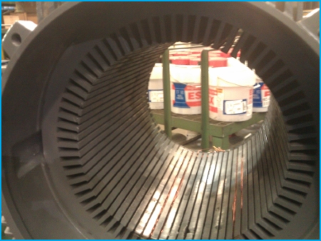 AC 3-phase electric motor repair - cleaning
