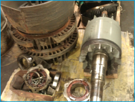 AC 3-phase electric motor repair - disassembled