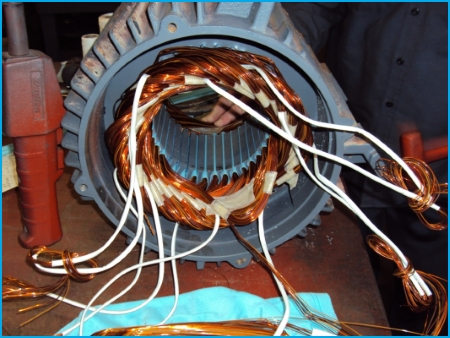 AC 3-phase electric motor repair - surge test