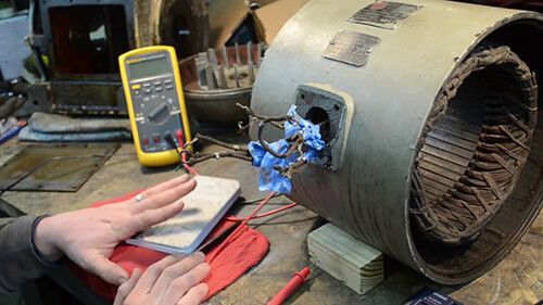 DC electric motor repair - cleaning