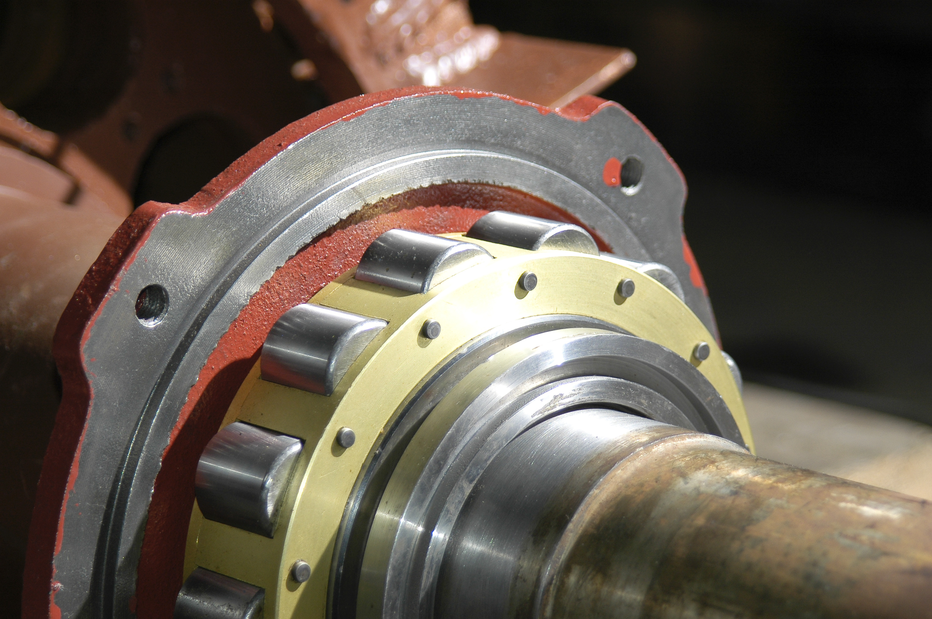 DC electric motor repair - re-sleeving bearing housing